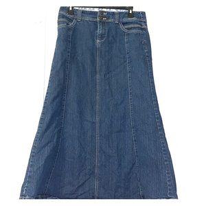 Christopher and banks jean skirt!